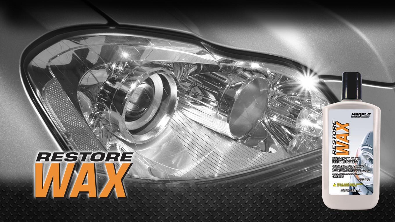Restore Wax, marflo, detailing products, detallado, faros pulidos, pulido de faros, faros opacos
