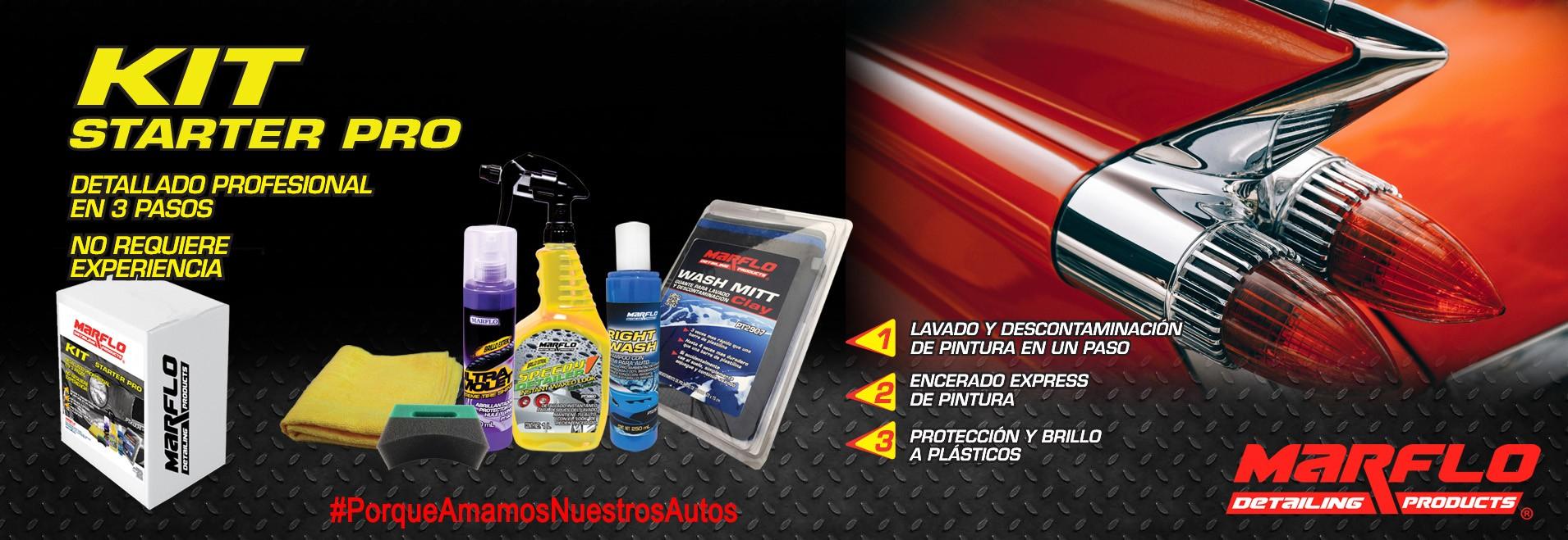 promociones marflo, detailing products, kit starter pro