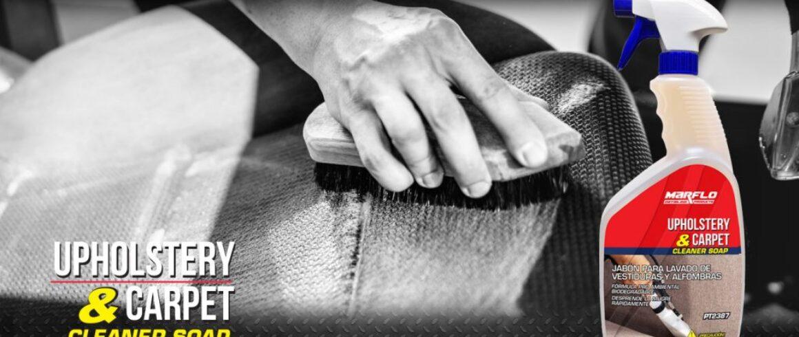 jabon para lavado de vestiduras, UPHOLSTERY & CARPET cleaner soap, marflo, detailing products